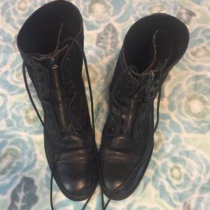 Kenneth Cole black bike-er boot size 10